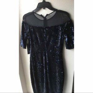 Jax Dresses - NWT Jax Black Label Navy Sequin Dress